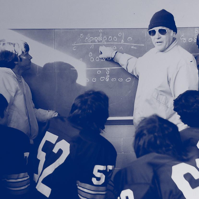 Gordie at the blackboard